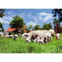 Síť pro elektrické ohradníky na ovce Ovinet 108 cm, 50 m, 1 hrot, oranžová