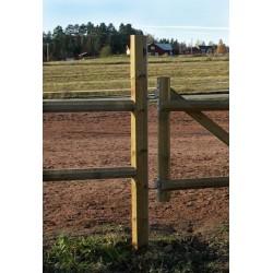 Kůl dřevěný rohový/bránový, 14 cm x 200 cm, borovice severská