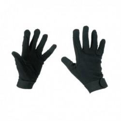 Jezdecké rukavice Jersey, černé