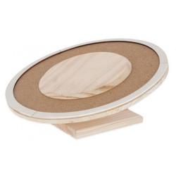 Kolotoč pro křečky a malé hlodavce dřevěný, 20cm