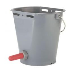 Kbelík napájecí plastový, komplet, šedý