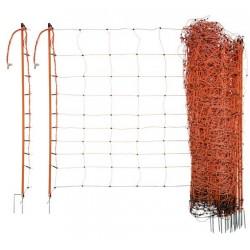 Síť k elektrickým ohradníkům na ovce Ovinet, 90cm, 50m, oranžová