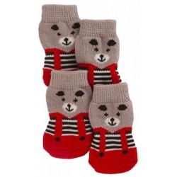Ponožky pro psy BRUNO pletené, protiskluzové