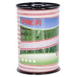Páska PROFI pro el. ohradník, 12 mm x 200 m, 4x TriCOND 0,3 mm, bílo-červená