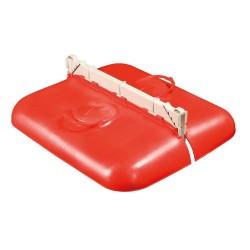 Mobilní budník pro selata dvoumístný, červený, 50 cm