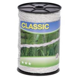 Lanko CLASSIC pro el. ohradník, 3 mm x 500 m, 6x Ni 0,20 mm, bílá