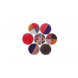Kuličky k minipejetám, skleněné, červené - 1,7 mm