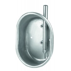Napáječka misková, nerezová, pro výkrm, 19 x 27 x 11 cm