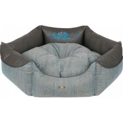 CAZO Pelíšek pro psy a kočky Blue Rose, šestistěnný, šedo-modrý, 70 cm