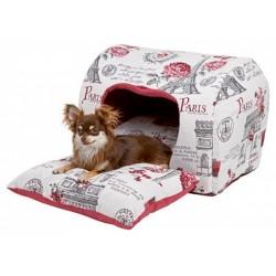 Kukaň PARIS pro psy, látková bouda, 35x50x36 cm