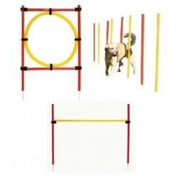 Kerbl agility překážky pro psy, sada, 3 typy