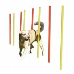 Agility překážka pro psy s úložnou taškou - slalom - 12 tyčí