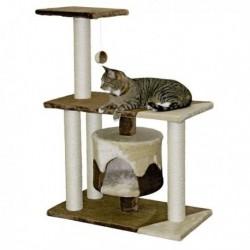 Škrabadlo pro kočky JADE Pro - kočičí domek, hnědá/písková
