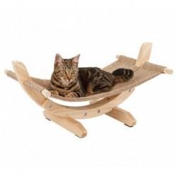 Lehátko houpací SIESTA II, lněná houpačka pro kočky 61x37x329 cm
