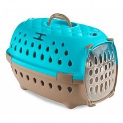 Přepravka pro psy, transportní box do auta Travel Chic, karibská modrá, 34,5 x 50 x 31,5 cm