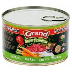GRAND Super Premium Hovězí - mrkev, 380g
