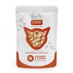 Brit Care Cat kapsa Chicken & Cheese Pouch 80g SLEVA