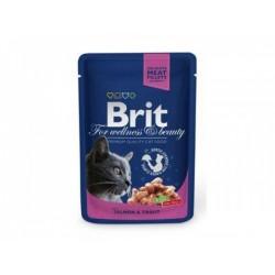 BRIT Premium Cat kapsa with Salmon&Trout 100g