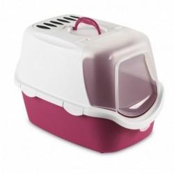Toaleta pro kočky Cathy Easy Clean fuchsiová -  kočičí WC s filtrem a lopatkou