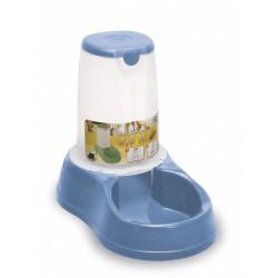 Zásobník s miskou na krmivo pro psy a kočky Maya, 3,5 l, pastelově modrý