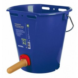 Kbelík napájecí plastový s FixClip ventilem a cucákem, modrý