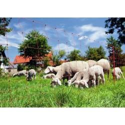 Síť pro elektrické ohradníky na ovce Ovinet 108 cm, 50 m, 2 hroty, oranžová - repasovaná
